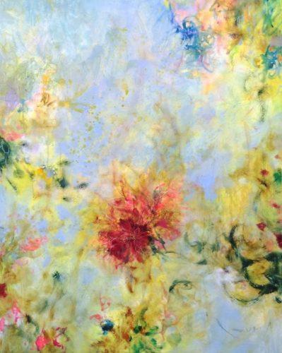 「Flowers」油彩40号