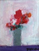 吉岡耕二「Flowers (W)」 油彩0号 額寸33×28.2  売約済