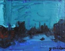 吉岡耕二「La Seine」 油彩0号 額寸28.3×32