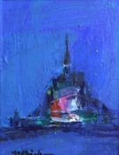 吉岡耕二「Mont St.Michel」 油彩0号 額寸33×28.8  売約済